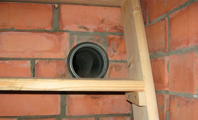 Вытяжная вентиляционная шахта — узлы прохода вытяжных вентиляционных шахт