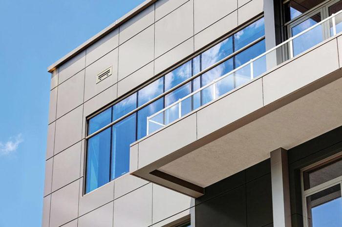 Установка фасадов из керамогранита