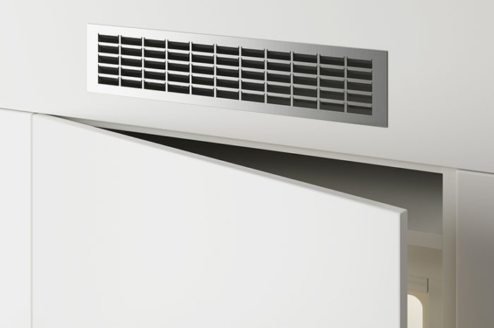 Фасадные накладные вентиляционные решетки из металла
